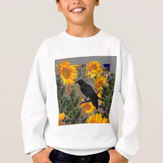 black crow & sunflowers art sweatshirt