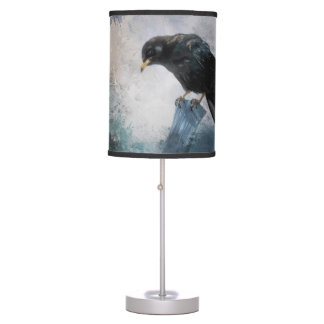 Black Crow Table Lamp