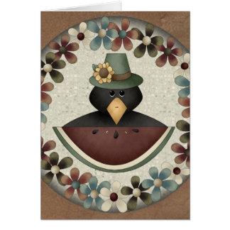 Black Crow Thanksgiving Card