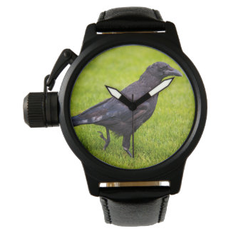 Black crow wristwatch