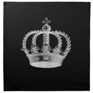 Black Crown (A) Cloth Napkins (set of 4) dinner 20