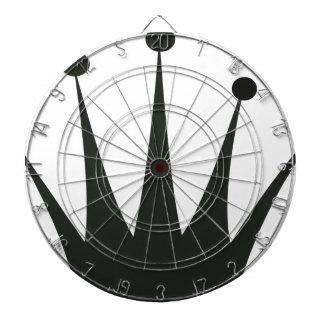 Black Crown Silhouette Dartboard