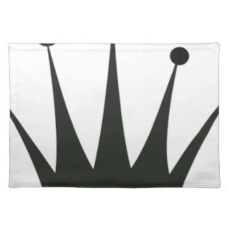 Black Crown Silhouette Placemat