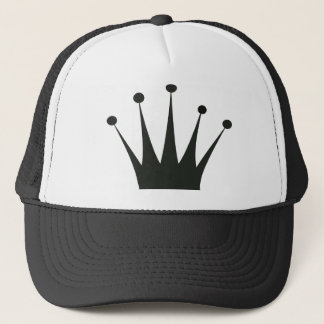 Black Crown Silhouette Trucker Hat