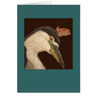Black crowned night heron card