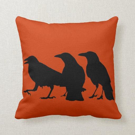 Black Crows Pillow