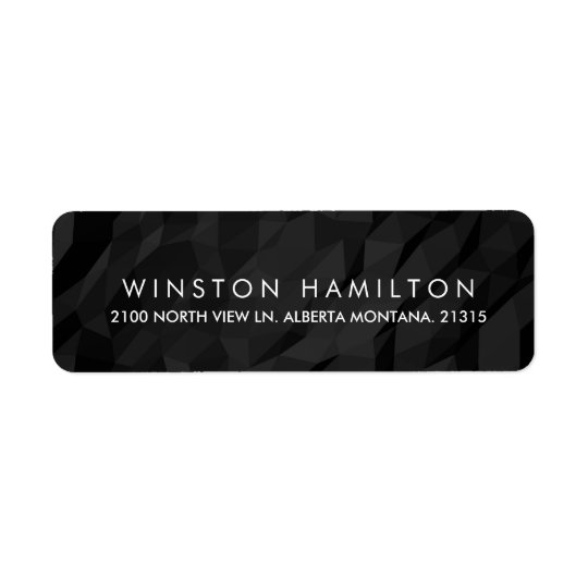 Black Crumpled Paper Personalized Return Address
