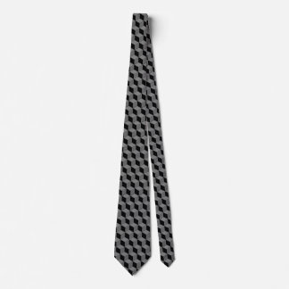 Black cube tie