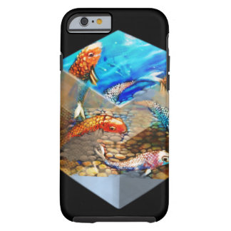 Black Cubed Koi Tough iPhone 6 Case