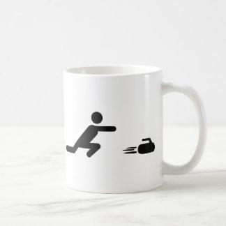 black curling icon mugs