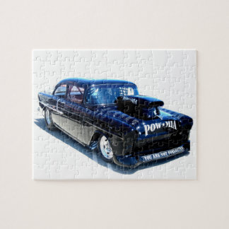 Black Custom POW classic car Jigsaw Puzzle