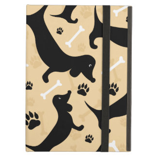 Black dachshund iPad air case