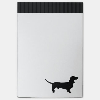 Black Dachshund Silhouette - Simple Vector Design Post-it Notes