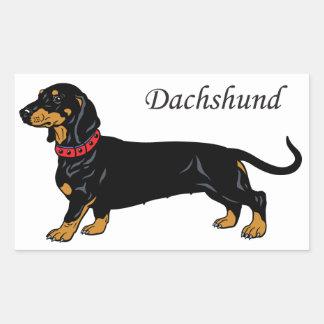 black dachshund stickers