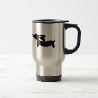 Black Dachshund Wiener Dog Coffee Travel Mug