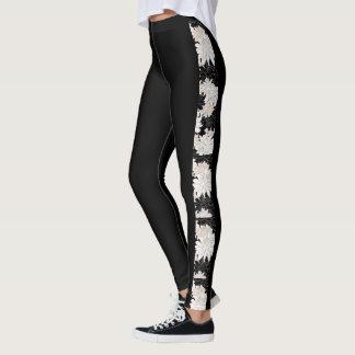 Black Dahlia Floral Legging