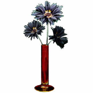 Black Daisies 3D Standing Photo Sculpture