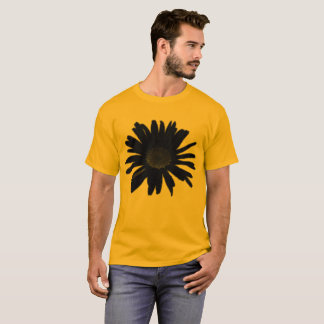 Black Daisy on Gold up to 6x Plus Size T-Shirt