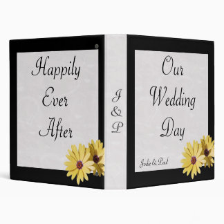 Black - Daisy - Our Wedding Day Vinyl Binder