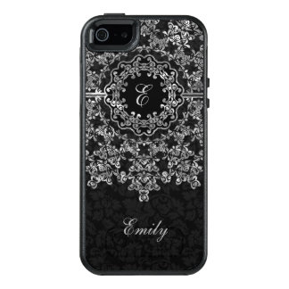 Black Damask And Silver Lace OtterBox iPhone 5/5s/SE Case