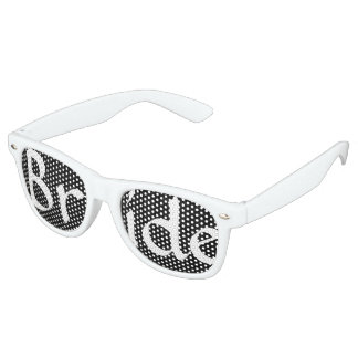 Black Damask Bride Fun Bachelorette Party Retro Sunglasses