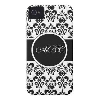 black damask Case-Mate iPhone 4 cases