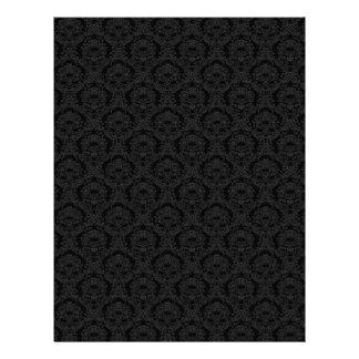 Black Damask Dark Scrapbook Craft Paper