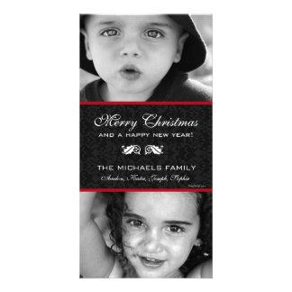 Black Damask Holiday Card