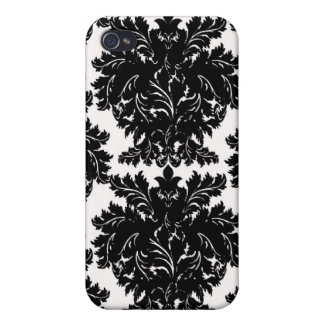 Black Damask i iPhone 4/4S Covers