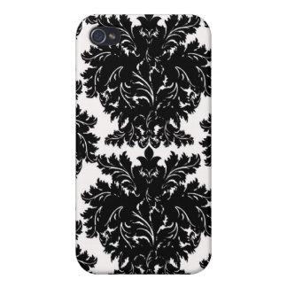 Black Damask i iPhone 4 Case