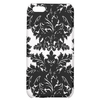 Black Damask iPhone case Cover For iPhone 5C