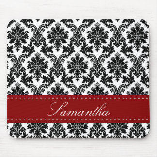 Black Damask Lace Broquade Personalized Mousepad