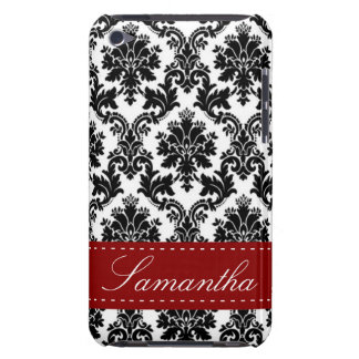 Black Damask Lace IPod Touch Barely There Case