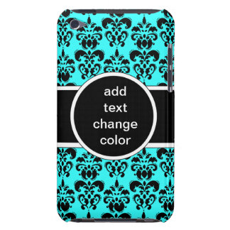 black damask on any color barely there iPod case