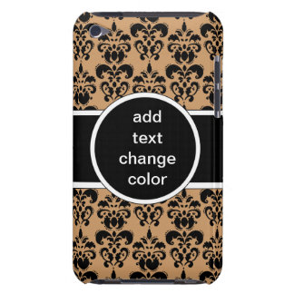 black damask on any color iPod touch case