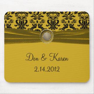 Black Damask On Gold Keepsake Mouse Pad