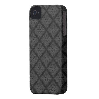 Black damask pattern case