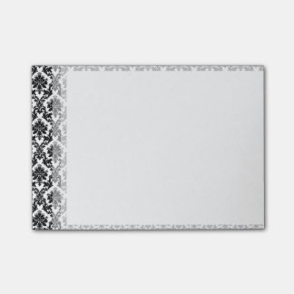 Black Damask Pattern Post-it Notes