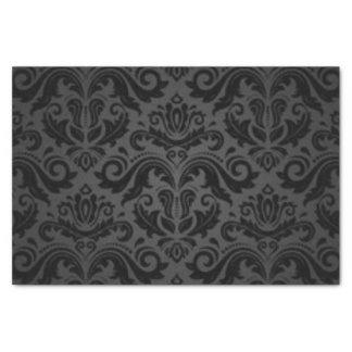Black Damask Pattern Print Design Tissue Paper