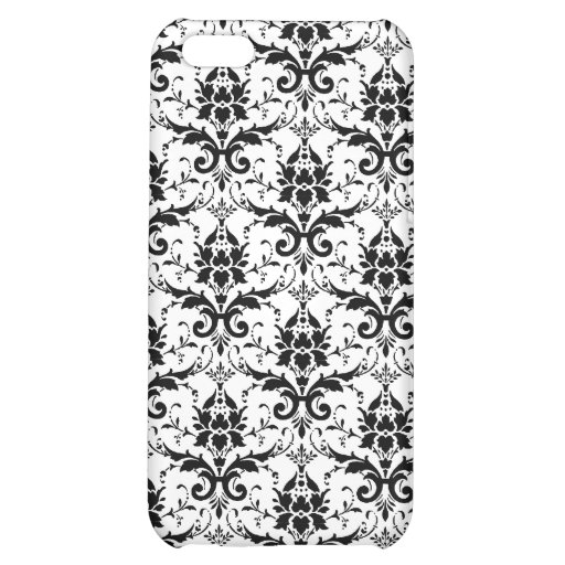 Black Damask Pern Cover For iPhone 5C