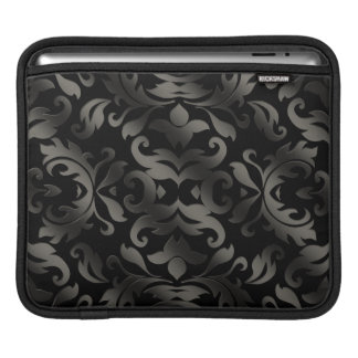 Black Damask Rickshaw Sleeve iPad Sleeves