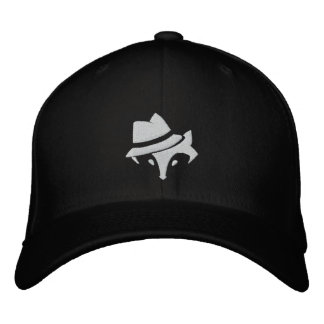 Black Daptown Fox Logo Baseball Cap