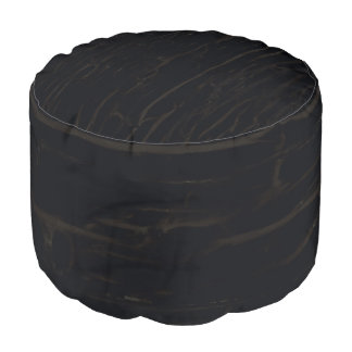 Black Dark Faux Cracked Wood Barn Rustic Country Pouf