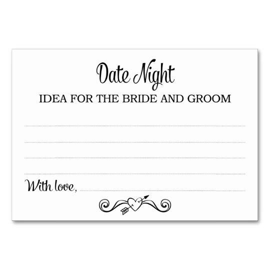 Black Date Night Idea Cards