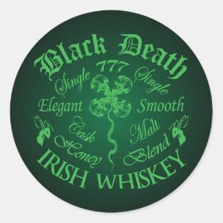 Black Death 777 - Honey Irish Whiskey Classic Round Sticker