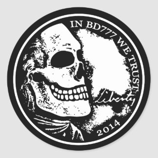 Black Death 777 - Liberty Classic Round Sticker