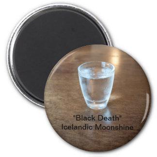 """""""Black Death"""" Shot - Icelandic Moonshine Magnet"""