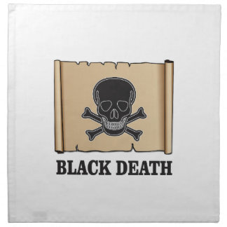 black death sign napkin