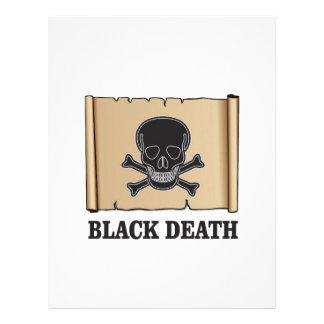 black death sign personalized letterhead