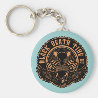 Black Death Tire Co. -Or Basic Round Button Keychain
